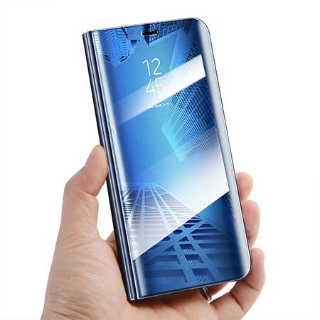 Etui na Samsung Galaxy A40 - Flip Clear View z klapką - Niebieski.