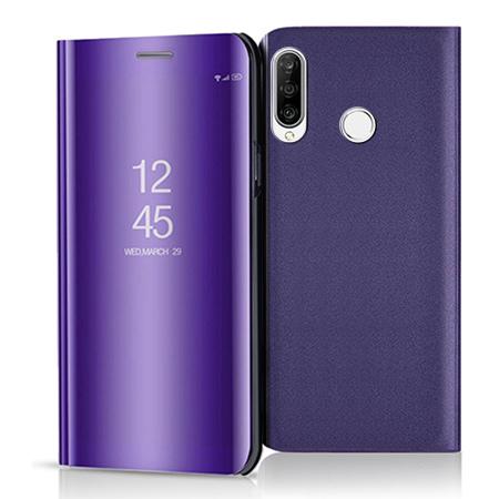 Etui na Huawei P30 Lite - Flip Clear View z klapką - Fioletowy.