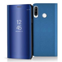 Etui na Huawei P30 Lite - Flip Clear View z klapką - Niebieski.