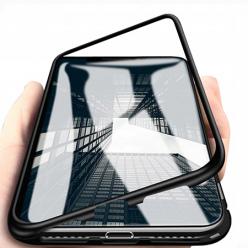 Etui Magnetyczne metalowe Magneto Huawei P30 Lite - Czarny