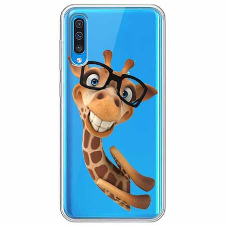 Etui na Samsung Galaxy A70 - Żyrafa w okularach.