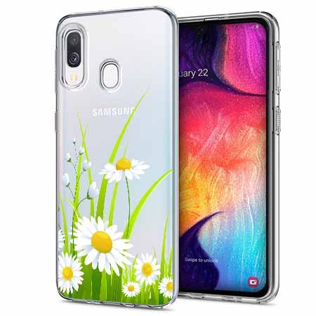 Etui na Samsung Galaxy A40 - Polne stokrotki.