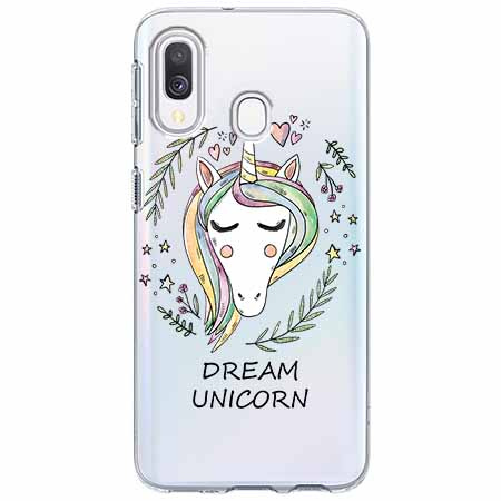Etui na Samsung Galaxy A40 - Dream unicorn - Jednorożec.