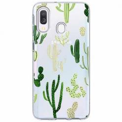 Etui na Samsung Galaxy A40 - Kaktusowy ogród.