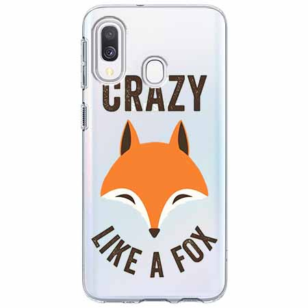 Etui na Samsung Galaxy A40 - Crazy like a fox.