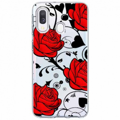 Etui na Samsung Galaxy A40 - Czerwone róże.
