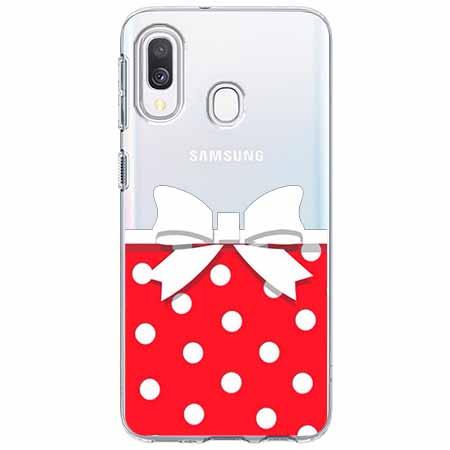 Etui na Samsung Galaxy A40 - Gustowna kokardka.