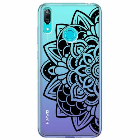Etui na Huawei Y6 2019 - Kwiatowa mandala.