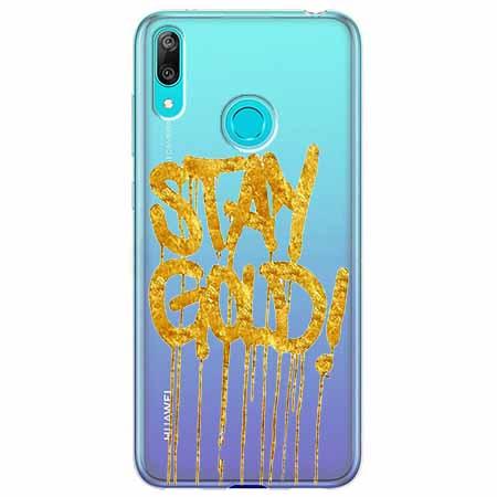 Etui na Huawei Y6 2019 - Stay Gold.