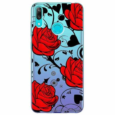 Etui na Huawei Y6 2019 - Czerwone róże.