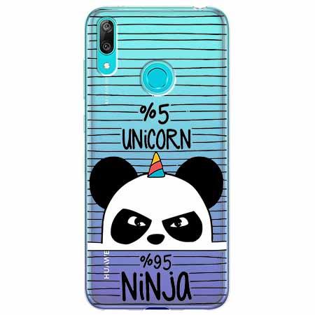 Etui na Huawei Y6 2019 - Ninja Unicorn - Jednorożec.
