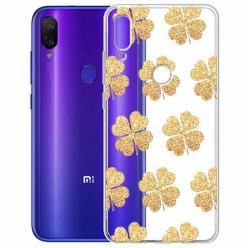 Etui na Xiaomi Redmi Note 7 - Złote koniczynki