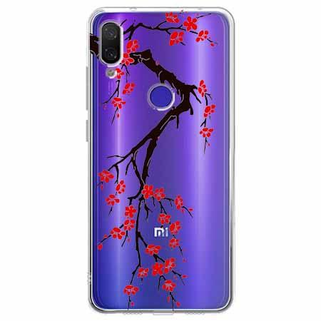 Etui na Xiaomi Redmi Note 7 - Krzew kwitnącej wiśni.