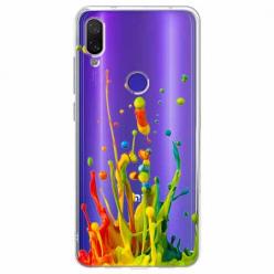 Etui na Xiaomi Redmi Note 7 - Kolorowy splash.