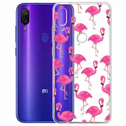 Etui na Xiaomi Redmi Note 7 - Różowe flamingi.