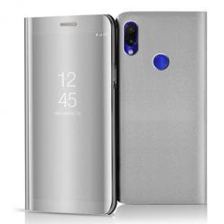 Etui na Xiaomi Redmi Note 7 - Flip Clear View z klapką - Srebrny.