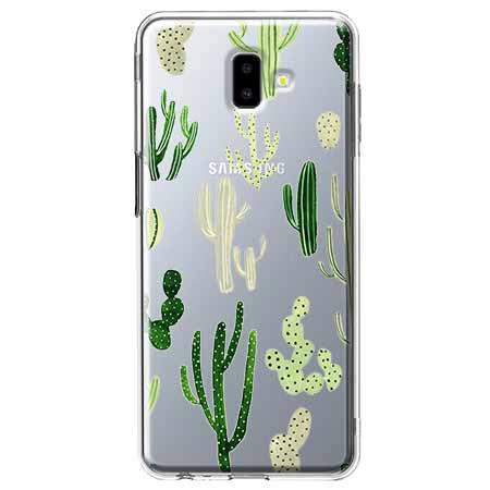 Etui na Galaxy J6 Plus - Kaktusowy ogród.