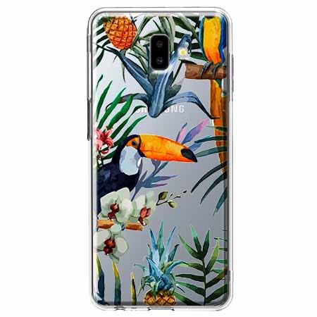 Etui na Galaxy J6 Plus - Egzotyczne tukany.