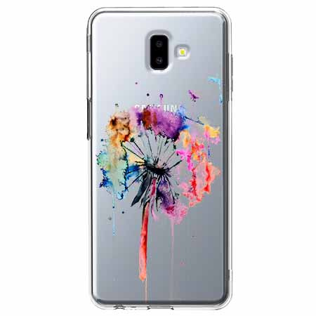 Etui na Galaxy J6 Plus -  Watercolor dmuchawiec.