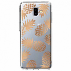 Etui na Galaxy J6 Plus - Złote ananasy.