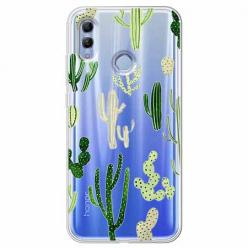 Etui na Huawei Honor 10 Lite - Kaktusowy ogród.