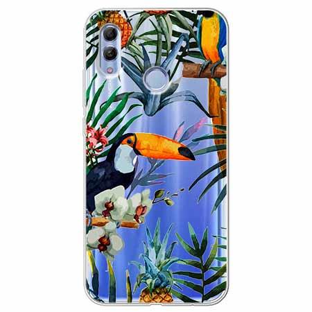 Etui na Huawei Honor 10 Lite - Egzotyczne tukany.