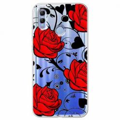 Etui na Huawei Honor 10 Lite - Czerwone róże.