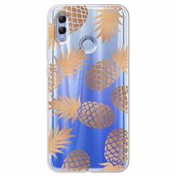 Etui na Huawei Honor 10 Lite - Złote ananasy.