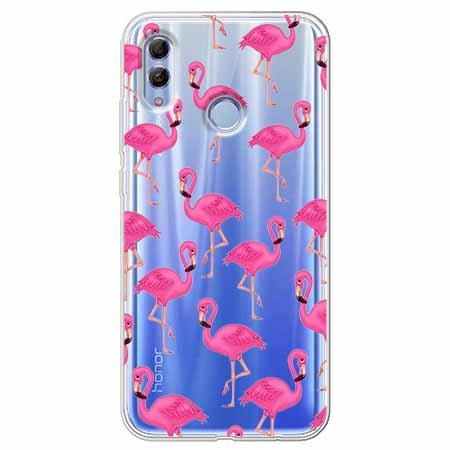 Etui na Huawei Honor 10 Lite - Różowe flamingi.