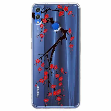 Etui na Huawei Honor 8X - Krzew kwitnącej wiśni.