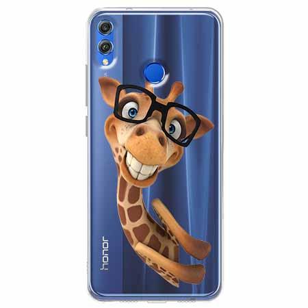 Etui na Huawei Honor 8X - Żyrafa w okularach.
