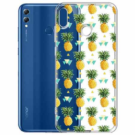 Etui na Huawei Honor 8X - Ananasowe szaleństwo.