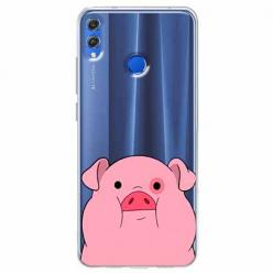 Etui na Huawei Honor 8X - Słodka różowa świnka.