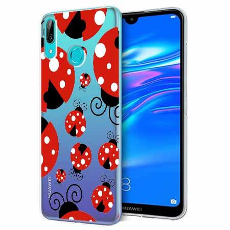 Etui na Huawei P Smart 2019 - Czerwone  biedronki.