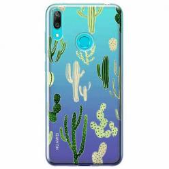 Etui na Huawei P Smart 2019 - Kaktusowy ogród.