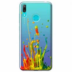 Etui na Huawei P Smart 2019 - Kolorowy splash.