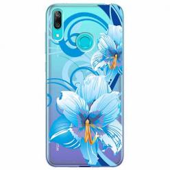 Etui na Huawei Y7 2019 - Niebieski kwiat północy.