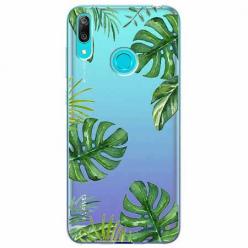 Etui na Huawei Y7 2019 - Zielone liście palmowca