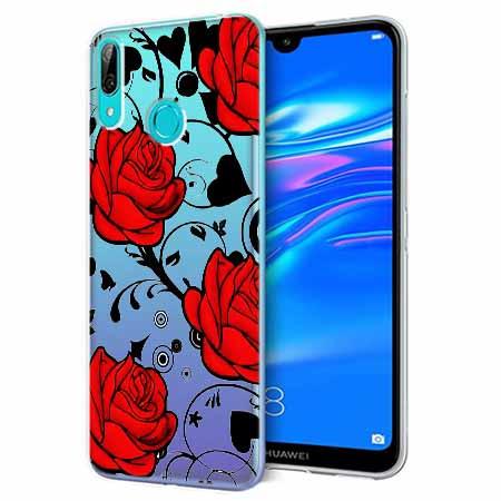 Etui na Huawei Y7 2019 - Czerwone róże.