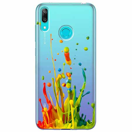 Etui na Huawei Y7 2019 - Kolorowy splash.