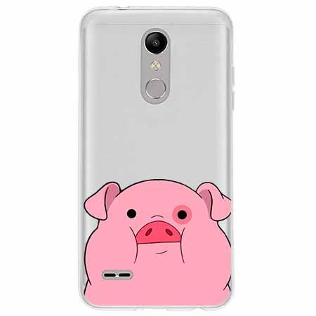 Etui na LG K11 - Słodka różowa świnka.