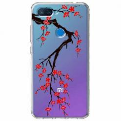 Etui na Xiaomi Mi 8 Lite - Krzew kwitnącej wiśni.