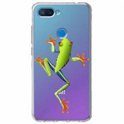 Etui na Xiaomi Mi 8 Lite - Zielona żabka.