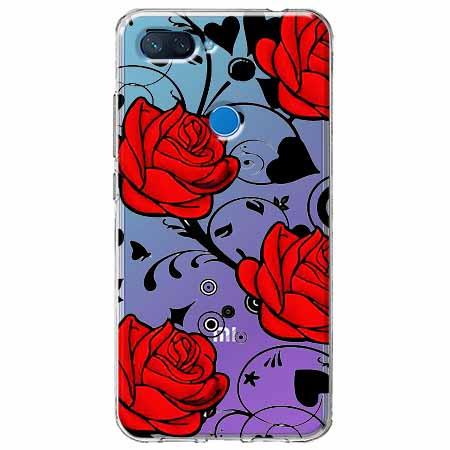 Etui na Xiaomi Mi 8 Lite - Czerwone róże.