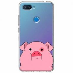Etui na Xiaomi Mi 8 Lite - Słodka różowa świnka.