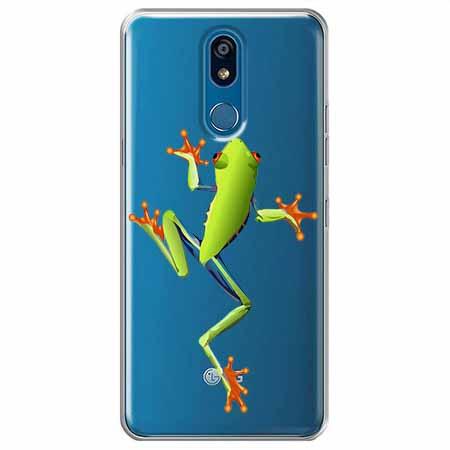 Etui na LG K40 - Zielona żabka.