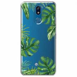 Etui na LG K40 - Zielone liście palmowca