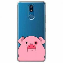 Etui na LG K40 - Słodka różowa świnka.