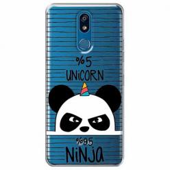 Etui na LG K40 - Ninja Unicorn - Jednorożec.