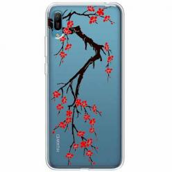 Etui na Huawei Y6 2019 - Krzew kwitnącej wiśni.